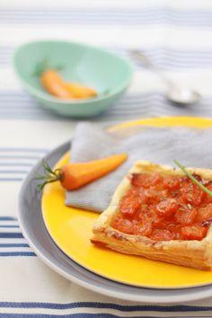 Tarte fine aux carottes confites3 TARTES FINES AUX CAROTTES CONFITES