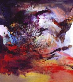 Zao Wou-Ki Abstract Art Images, Abstract Styles, Abstract Painters, Oil Painting Abstract, Modern Art, Contemporary Art, Art Plastique, Chinese Art, Oeuvre D'art