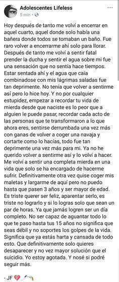😢😢😢💔💔💔 Frases Tumblr, Sad Quotes, Love Quotes, Sad Texts, Sad Words, I Hate My Life, Sad Girl, Sad Love, Spanish Quotes
