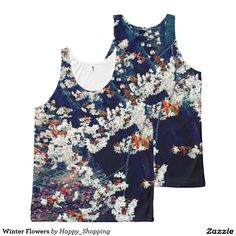 Winter Flowers All-Over Print Tank Top