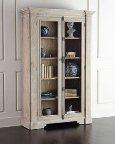 Heather Tall Bookcase, Natural Rub White - Neiman Marcus