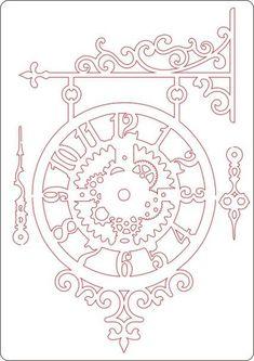 часы на кронштейне: