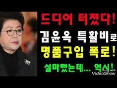 드디어 터졌다!김윤옥 특활비로 명품구입 폭로! - YouTube