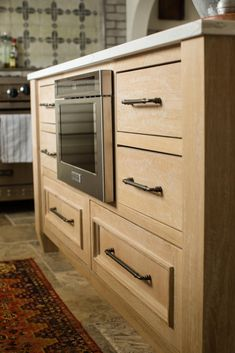 Our rustic white oak kitchen island. Old world charm with a modern twist! Check out the rest of this gorgeous custom island by following the link to my website! White Oak Kitchen, Modern Craftsman, Kitchen Gallery, Stained Concrete, Dream Closets, Rustic White, Custom Cabinetry, Home Kitchens, Kitchen Remodel