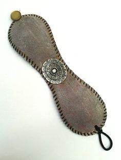 Baseball Bracelet / Repurposed Baseball / Recycled Jewelry / Baseball Cuff / Upcycled Baseball / Leather Cuff. $35.00, via Etsy.