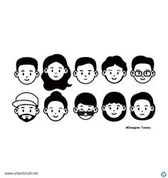 Simple Illustration, Character Illustration, Graphic Illustration, Simple Character, Character Design, Icon Design, Logo Design, Avatar, Face Characters