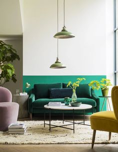 5 Great Tips To Welcome Spring Into Your Home Eclectic Living Room, Living Room Green, Interior Design Living Room, Living Room Decor, Living Spaces, Best Interior Design, Interior Design Inspiration, Home Decor Trends, Diy Home Decor