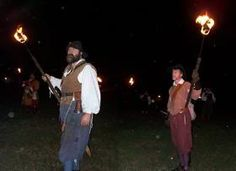 Living History Interpreters portraying Bacon's troops about to burn Jametown - Bacon's rebellion national parks service