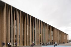 Image 4 of 10 from gallery of Spanish Pavilion Expo Zaragoza 2008 / Francisco Mangado. Photograph by Pedro Pegenaute Wood Facade, Wood Cladding, Archdaily Mexico, Modern Architects, Alvar Aalto, Facade Architecture, Cultural Architecture, Facade Design, Building Design