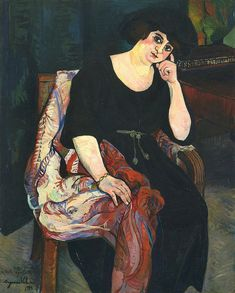Suzanne Valadon - Portrait of Mme Zamaron 1922 Renoir, Maurice Utrillo, Moma Collection, Female Painters, Post Impressionism, Paul Gauguin, Museum Of Modern Art, French Artists, Oeuvre D'art