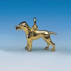 Anhänger Vorstehhund Breite 34 mm / Höhe 25 mm Silbergewicht: 12,7 g