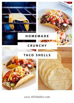 Easy, oven-baked homemade crunchy taco shells. It's never been easier to make the best tacos ever!