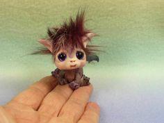 BAT wings OOAK made by me fairy artist Lori Marple TROLLTRACKS troll elf dragon April 2014