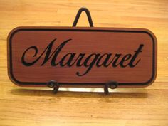 Wooden Name Sign in Cedar  will custom make alternate by mbguest, $20.00