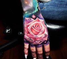 Purple Rose tattoo by Tyler Malek