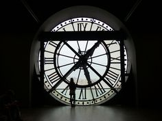 Left Bank of the Seine, Paris, France: clock window of the Musée d'Orsay, originally designed to be a train station for the 1900 World's Fair