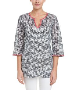Spotted this Sulu Collection Liz Black & Coral Print Hand Embroidered Tunic on Rue La La. Shop (quickly!).