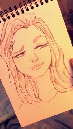 Simple Drawing – 75 Picture Ideas – Drawing Id. Simple Drawing – 75 Picture Ideas – Drawing Ideas and Tutorials. Girl Drawing Sketches, Cute Girl Drawing, Cool Art Drawings, Pencil Art Drawings, Kawaii Drawings, Easy Drawings, Drawing Ideas, Cute Drawings Of Girls, Girl Face Drawing