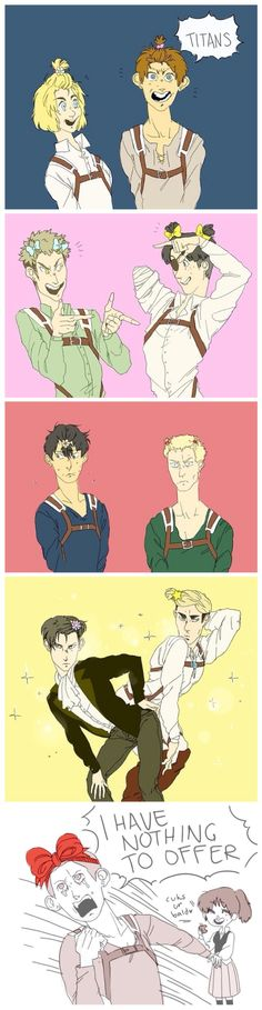 Attack on Titan ~~ I feel bad about pinning this, but the image of Levi and Erwin made me do it. ... omg ... Sorry....