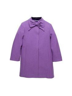 Girl's Wool Bow Coat