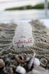 """If you do the rock """"guest book"""" you could do the rocks for escort cards as well?!"""
