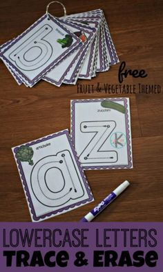 FREE Lowercase Letters Trace & Erase – this super cute alphabet cards are a fun way for toddler, preschool, prek, and kindergarten age kids to trace letters - Kids education and learning acts Preschool Literacy, Preschool Letters, Learning Letters, Toddler Preschool, Zoo Phonics, Free Preschool, Cute Alphabet, Alphabet Cards, Alphabet Worksheets