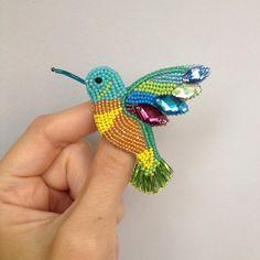 Птичка поближе #колибриизбисера#ручнаяработаназаказ#колибри#handmade