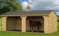 Run-in shelter for the horses