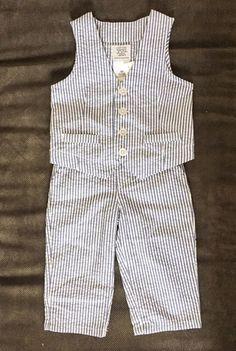 83cb49c5e5a Check out this listing on Kidizen  Seersucker Vest  amp  Pants Set via   kidizen