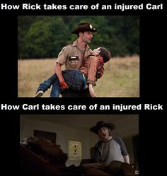 The Walking Dead. I was really irritated with Carl in this episode. At least he started to lighten up at the end