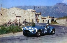 Phil Hill drove Cobras for Carroll Shelby during 1964 and 1965. Shelby challenged Ferrari for the World Manufacturer's Championship those years. The first foray was the Targa Florio in April 1964. Phil Hill was part of the team that secured the championship for Shelby in 1965, the first time an American had won. (photo credit: Dave Friedman)