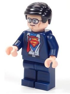 Lego Super Heroes DC Clark Kent changing to Superman minifig. Batman Lego, Lego Marvel, Superman, Lego Dc Comics, Lego Friends Party, Lego Coloring Pages, Lego Pictures, Lego People, Lego Minifigs
