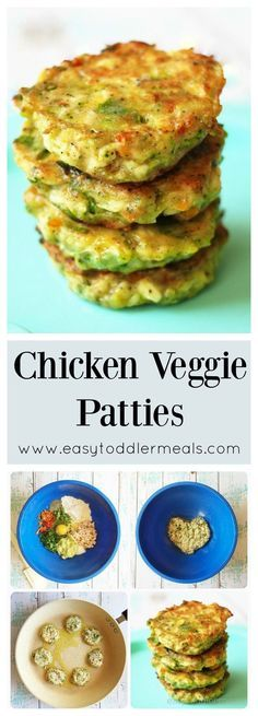 Veggie Patties Packed with lots of veggies, but comes close to a chicken nugget!Packed with lots of veggies, but comes close to a chicken nugget! Baby Food Recipes, Cooking Recipes, Healthy Recipes, Healthy Lunches, Detox Recipes, Chicken Recipes For Babies, Baby Food Chicken, Veggie Chicken Nuggets, Baby Lead Weaning Recipes