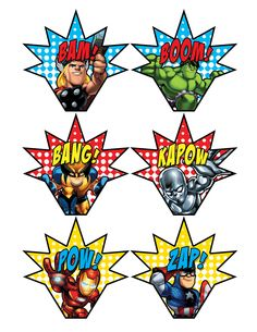 Superhero Squad Cupcake Toppers