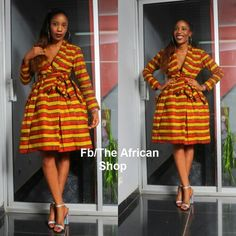 Knee length African dress