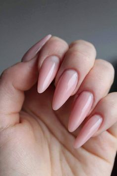 Long nails can also be delicate and . Long nails can also be delicate and ultra feminine … 🙂 SPN Cover Pink Powder & UV LaQ 505 Delicate french Nails by Klaudia Gozdek Beautica & SPN Nails Team Long Almond Nails, Long Nails, Long Round Nails, Perfect Nails, Gorgeous Nails, French Nails, Red Nails, Hair And Nails, Cute Nails