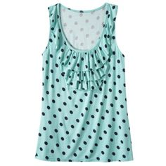 Merona® Women's Waterfall Ruffle Tank - Polka Dots  Rating: Not rated: be the first to review    $10.00
