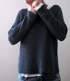 Пуловер Baldric лицевой гладью с отделочными полосами по бокам и на рукавах. Дизайнер Изабель Крэмер.