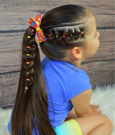 easy hairstyles for college Students Cute Toddler Hairstyles, Lil Girl Hairstyles, Pretty Hairstyles, Braided Hairstyles, Teenage Hairstyles, Princess Hairstyles, Formal Hairstyles, Medium Hair Styles, Natural Hair Styles