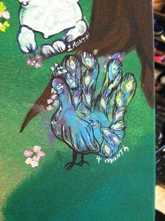 Baby peacock handprint