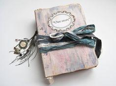 Hand bound wedding guest book & photo album. 21x15 cm.