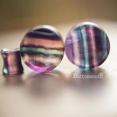 Freedom Fashion Chalcedony Stone Double Flared Ear Gauge Plug Sold by Pair