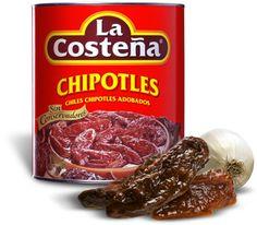 Chipotle (Gerookte Jalapeno) pepers in Adobo saus. Heerlijk gerookte smaak, uitstekend voor bij de BBQ en in stoofschotels en Chili con carne.