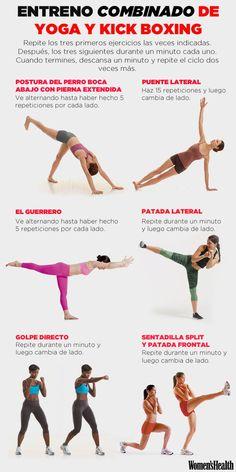 Rutina de 6 ejercicios de yoga y kickboxing | Fitness | Women's Health