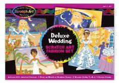 Melissa & Doug - Scratch Magic Boda De Lujo Establecer: Amazon.de: Spielzeug