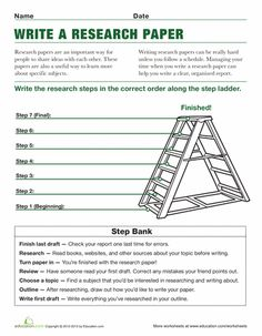 Fourth Grade Reading & Writing Worksheets: Steps to Writing a Research Paper Research Writing, Academic Writing, Teaching Writing, Writing Skills, Teaching Tools, Essay Writing, Writing Papers, Writing Curriculum, Essay Prompts