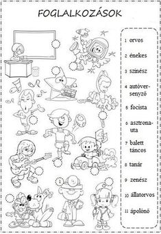 """""""I want to be"""" Worksheet for teaching about Professions English Worksheets For Kids, English Resources, English Activities, School Worksheets, English Lessons, English Time, Kids English, Learn English, English Classroom"""