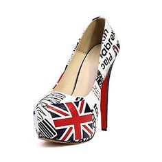Leather   Women's Shoes Wedding  Stiletto Heel Pumps with Buckle Shoes – USD $ 29.99
