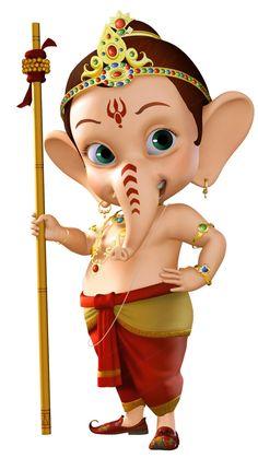Bal Ganesha HD Cartoon