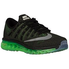 los angeles d80ba ad5ef Nike Air Max 2016 Mens Running Shoe 7 BlackReflective silverVoltage Green  -- Continue to the